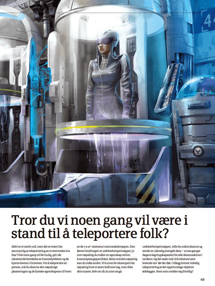 Tror du vi noen gang vil være i stand til å teleportere folk?
