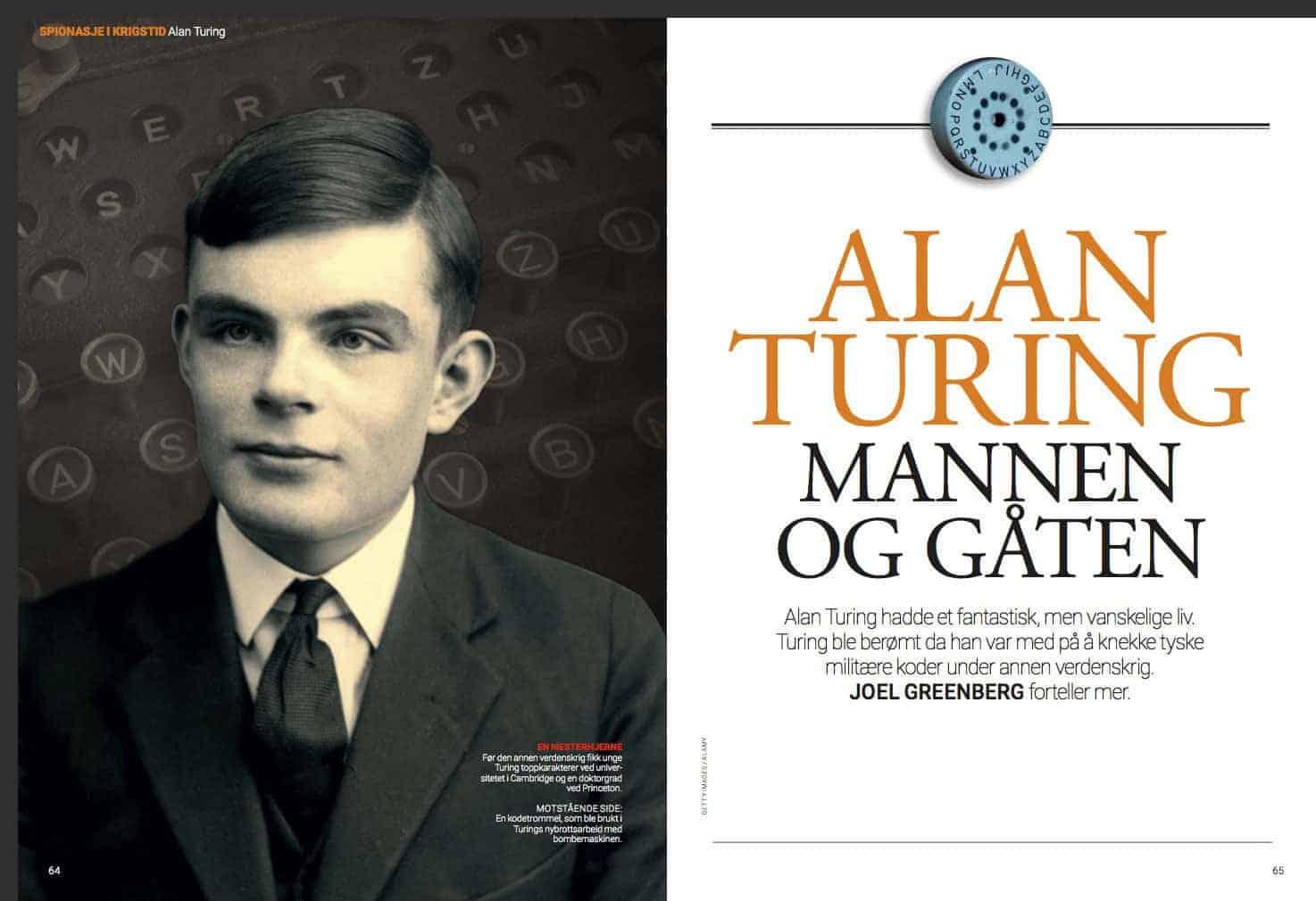 Alan Turing – mannen og gåten, oppslag