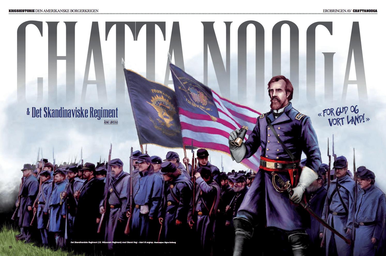 Den amerikanske borgerkrigen: Chattanoooga og det skandinaviske regiment, oppslag