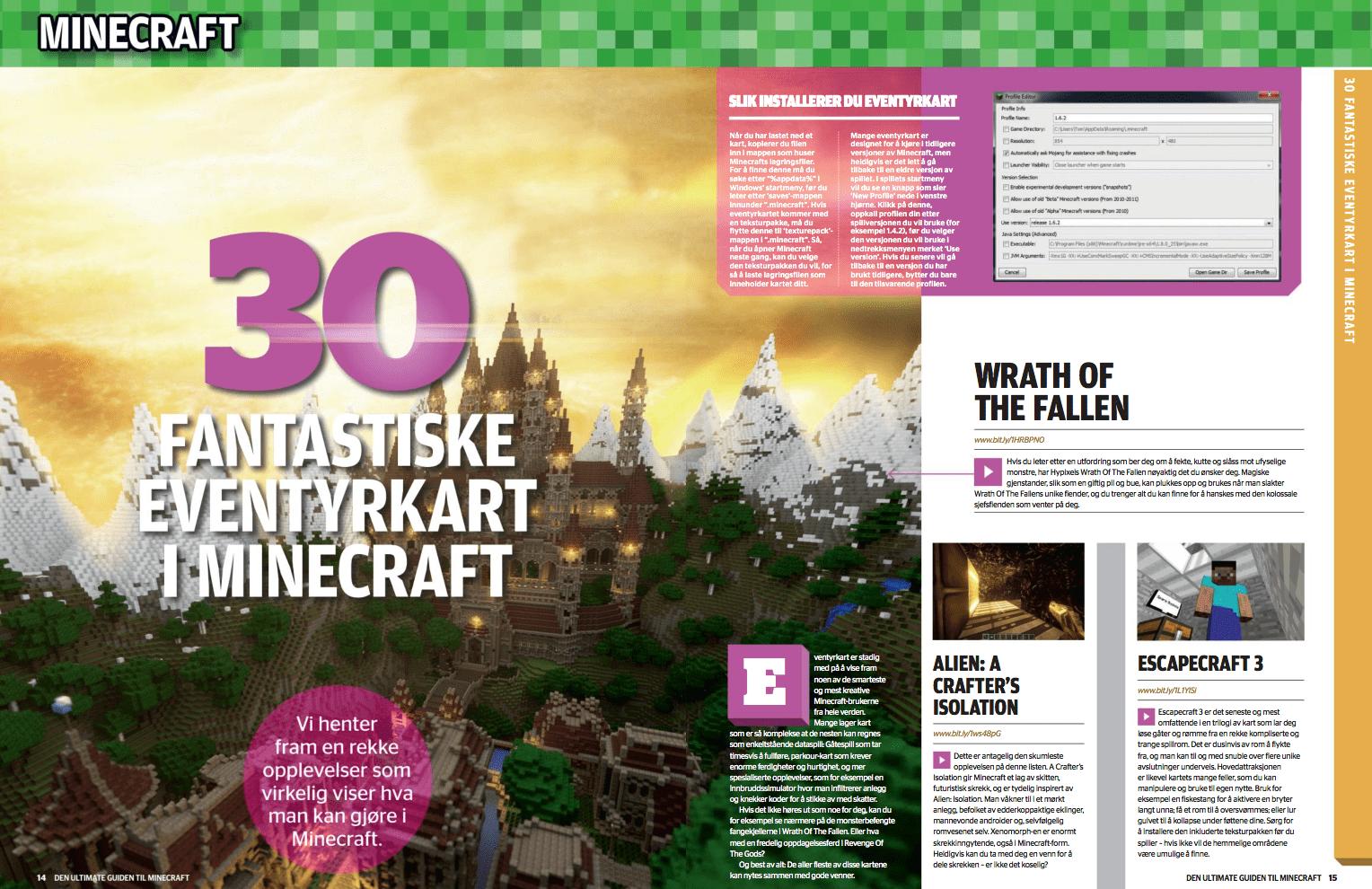 30 fantastiske eventyrkart i Minecraft, oppslag