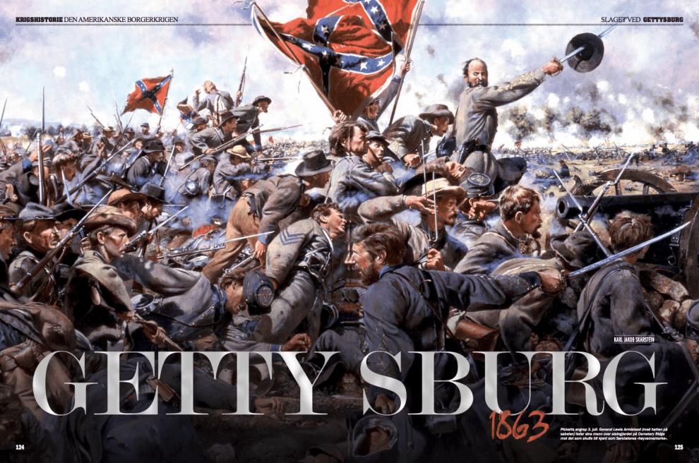 Slaget ved Gettysburg 1863, oppslag