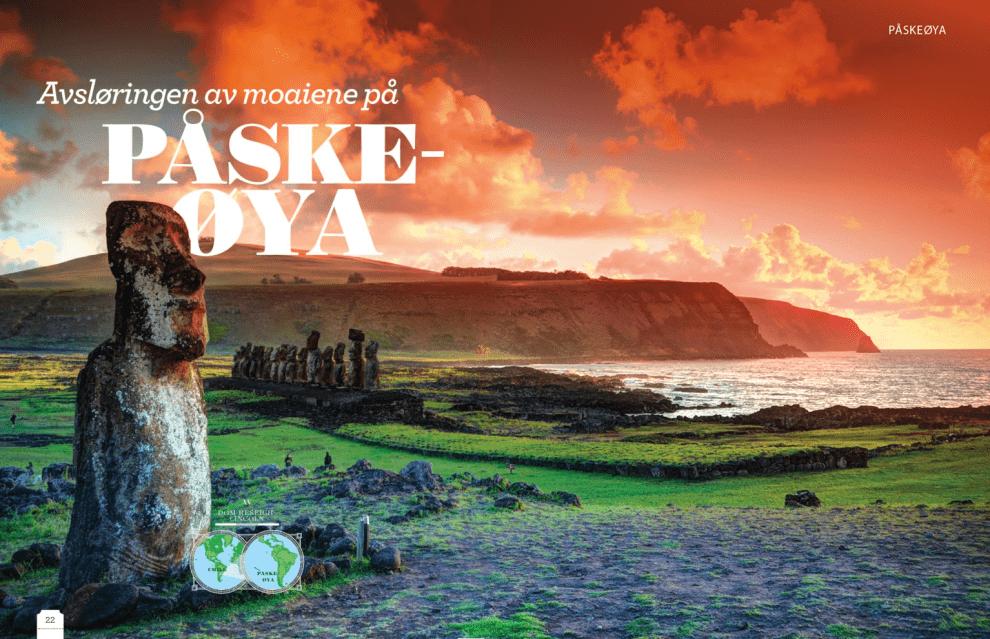 Avsløringen av moaiene på Påskeøya, oppslag