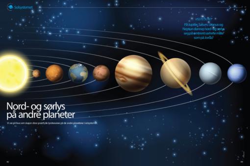 Nord- og sørlys på andre planeter, oppslag