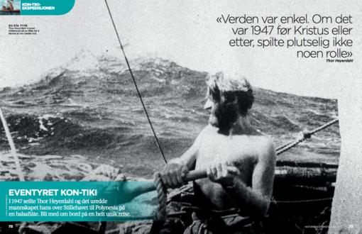 Heyerdahl, Kon-Tiki, oppslag