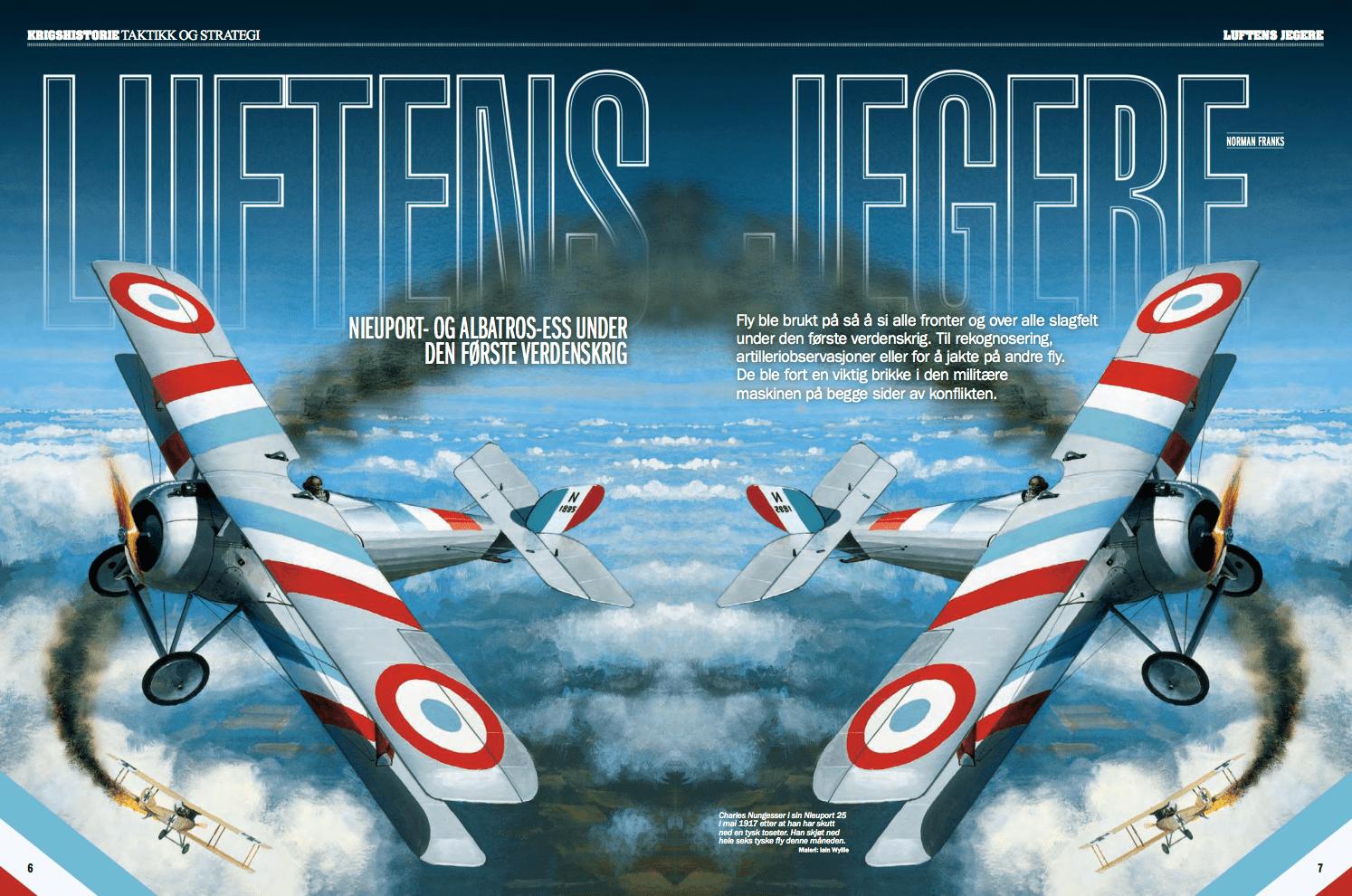 Luftens krigere: Nieuport- og Albatros-ess under Den første verdenskrig, oppslag