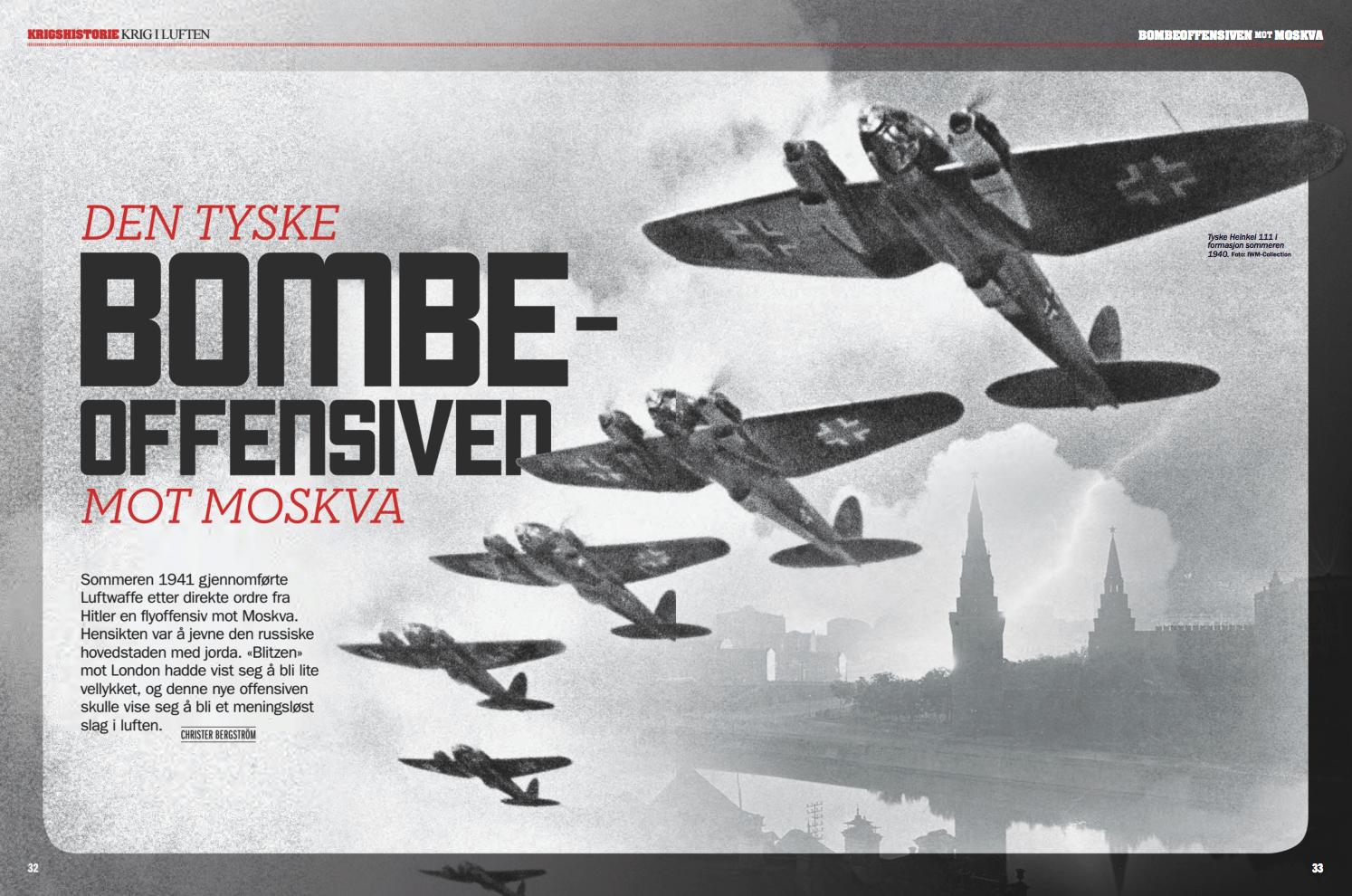 Luftkrig: den tyske bombeoffensiven mot Moskva, oppslag