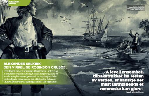 Alexander Selkirk: den virkelige Robinson Crusoe, oppslag