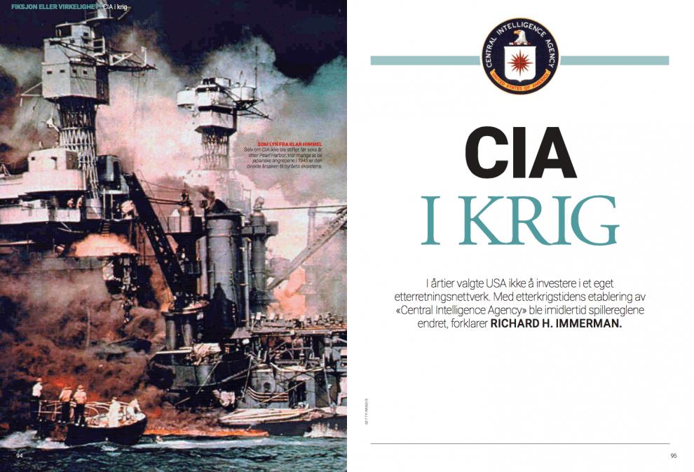 CIA i krig, oppslag
