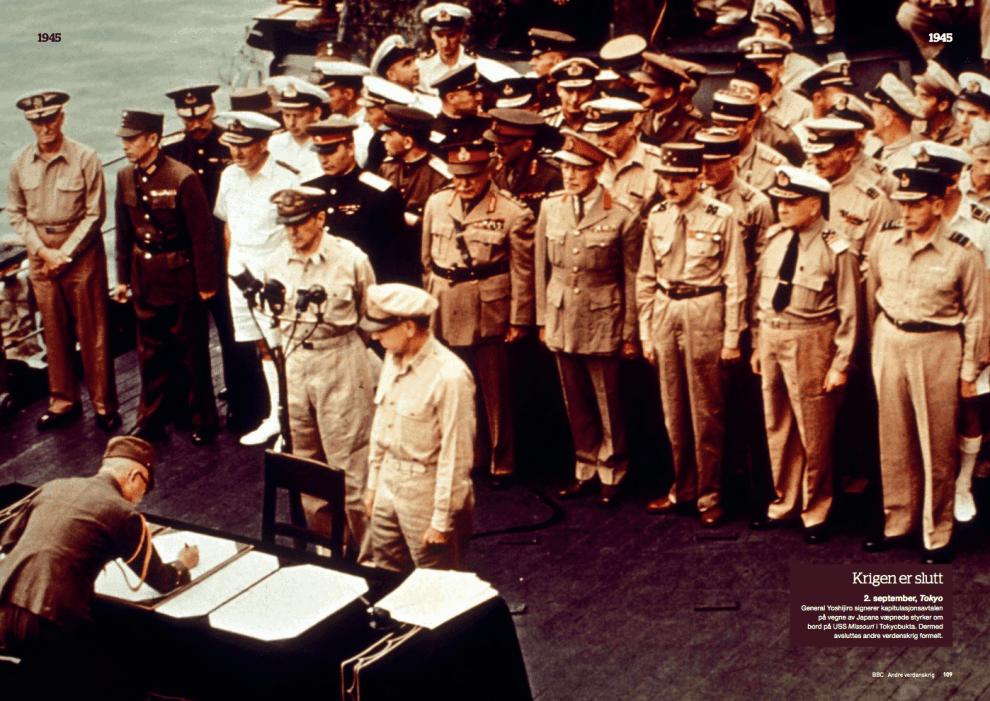 Krigsåret 1945, oppslag