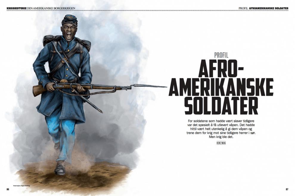 PROFIL: Afroamerikanske soldater, oppslag