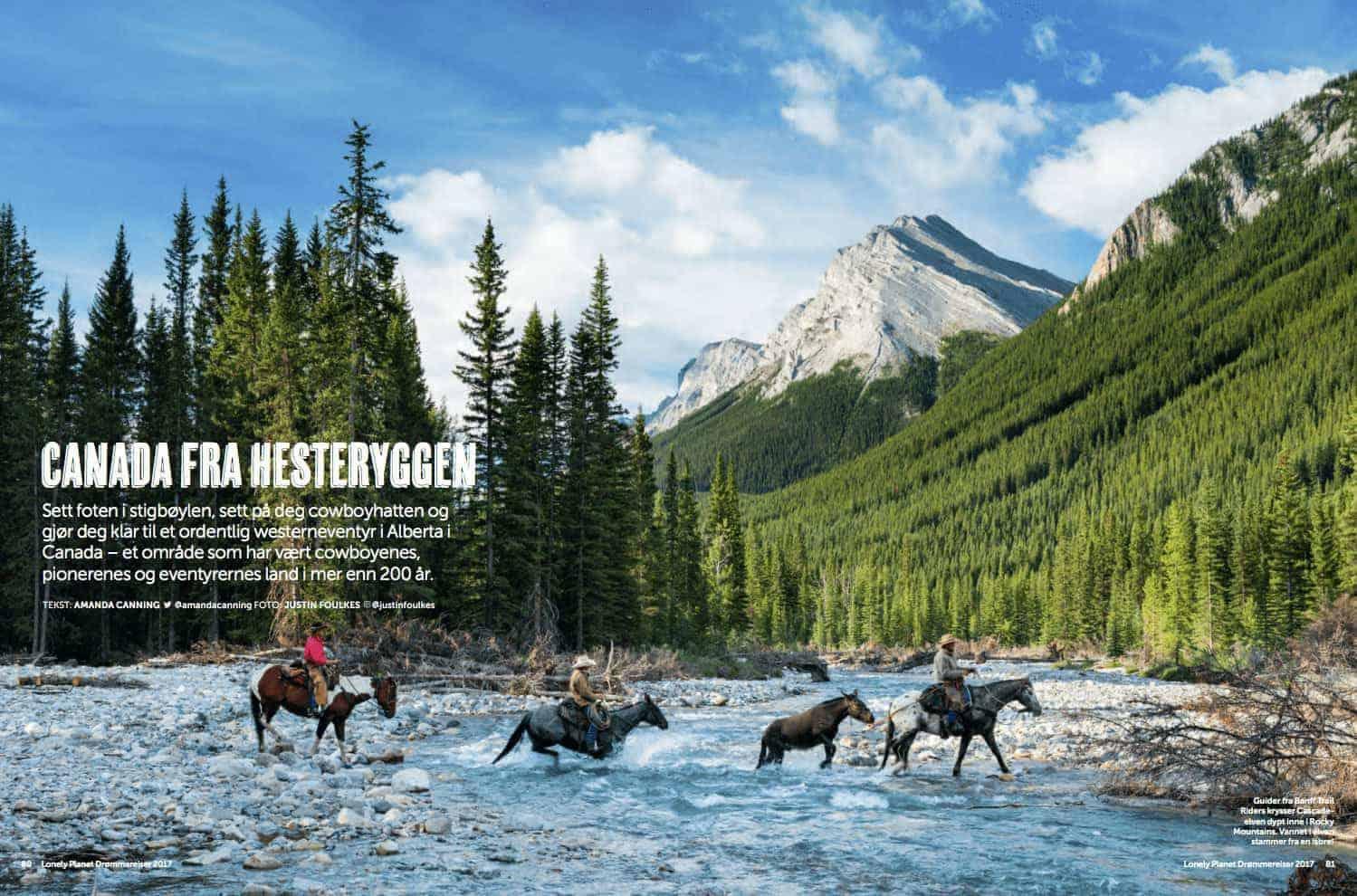 Canada fra hesteryggen, oppslag