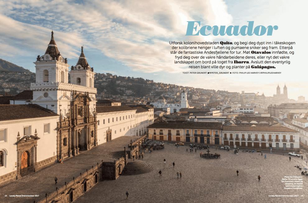 Oppdag Ecuador, oppslag