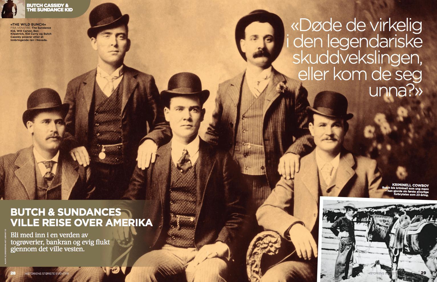 Butch & Sundances ville reise, oppslag