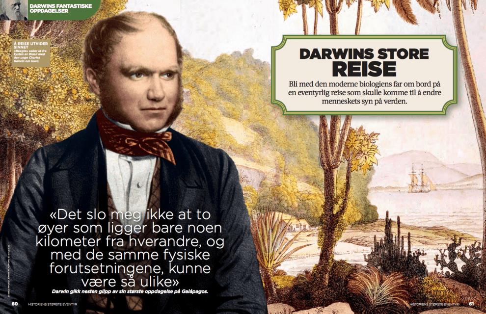 Darwins store reise, oppslag