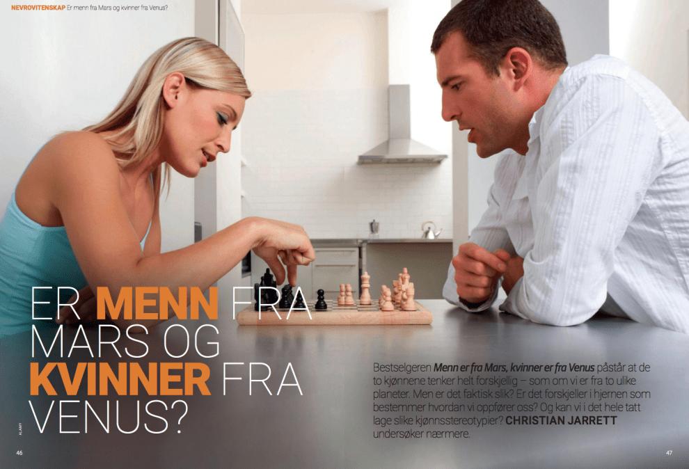 Er menn fra Mars og kvinner fra Venus?