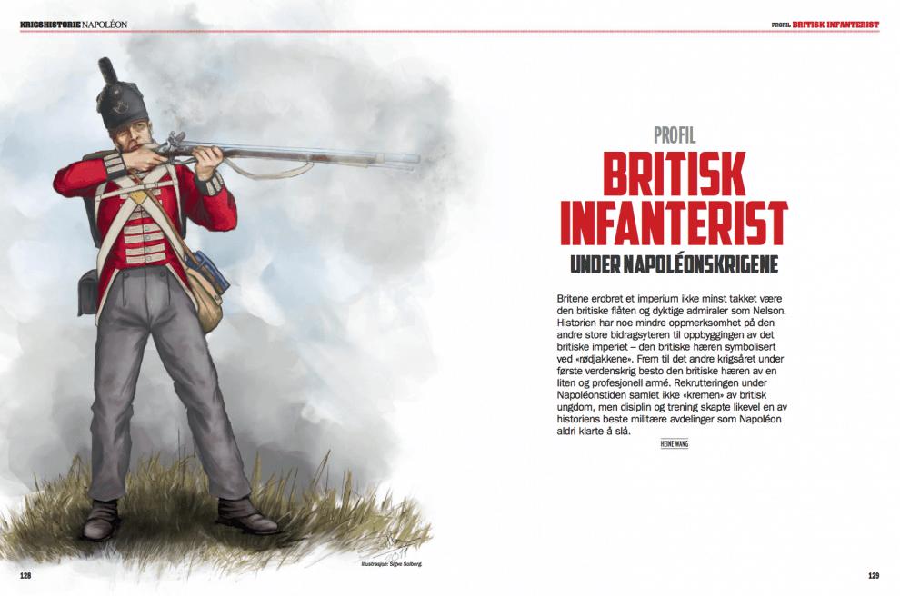 PROFIL: Britisk infanterist, oppslag
