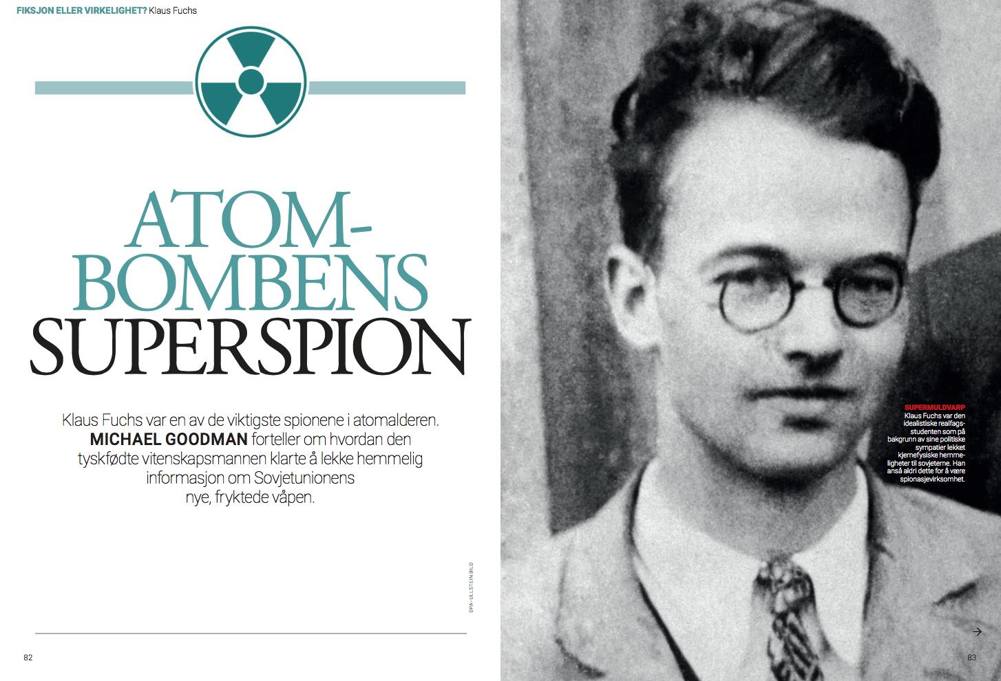 Atombombens superspion, oppslag