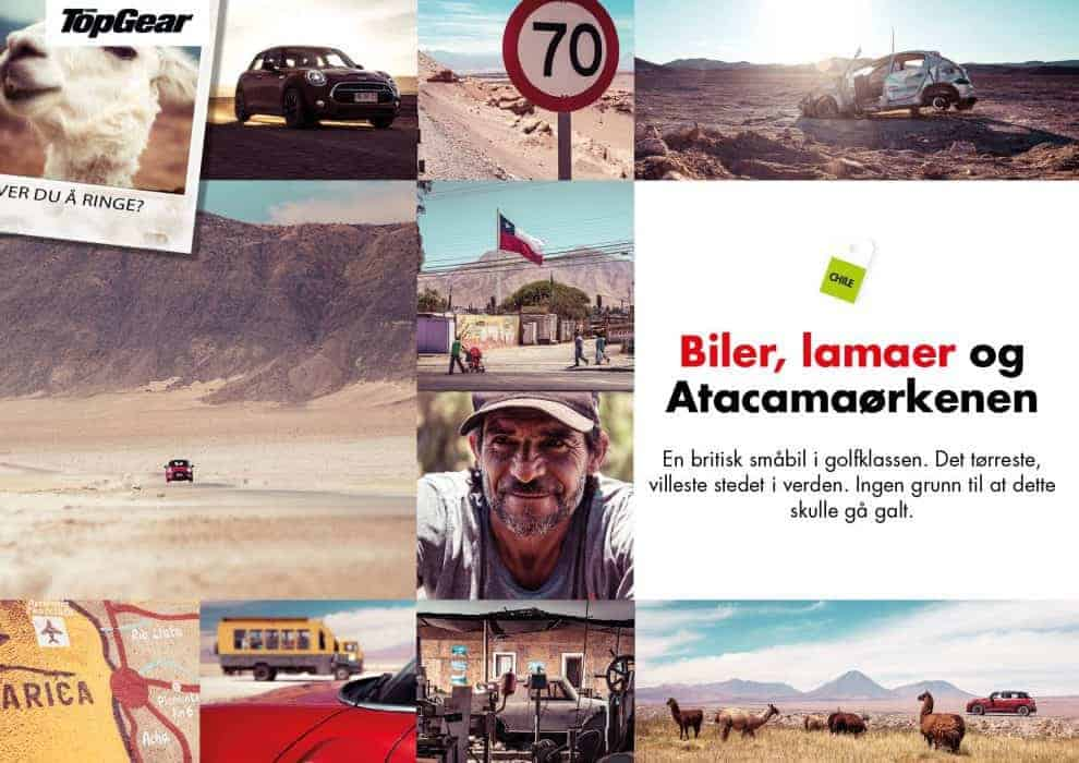 Biler, lamaer og Atacamaørkenen