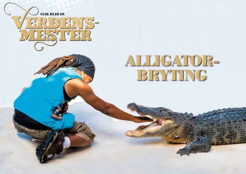 Slik blir du verdensmester: alligatorbryting