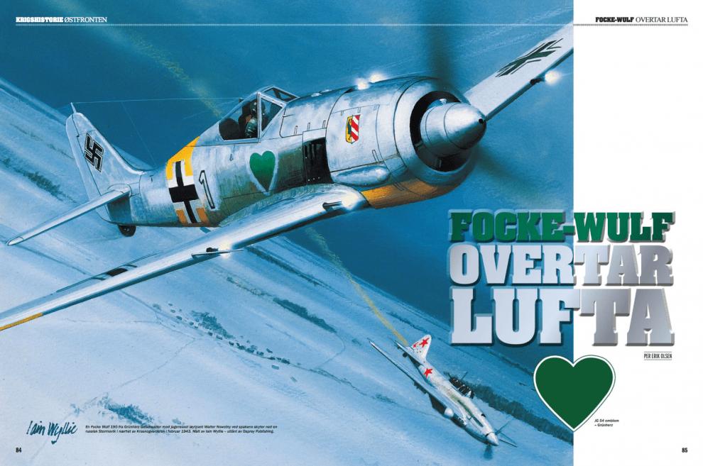 Focke-Wulf overtar lufta, oppslag