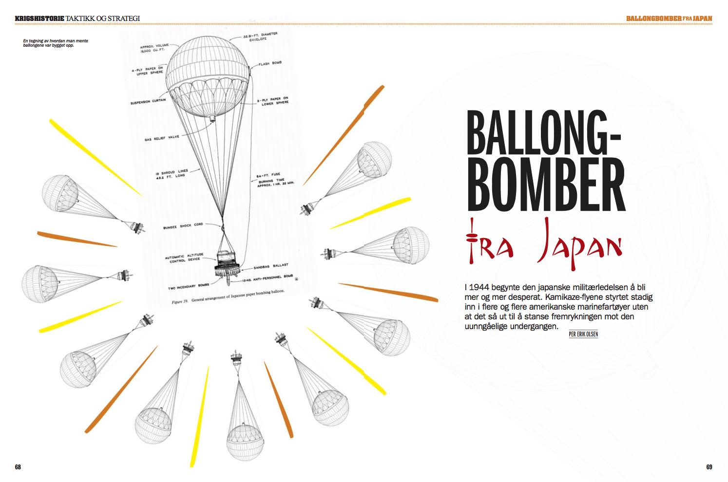 Ballongbomber fra Japan, oppslag