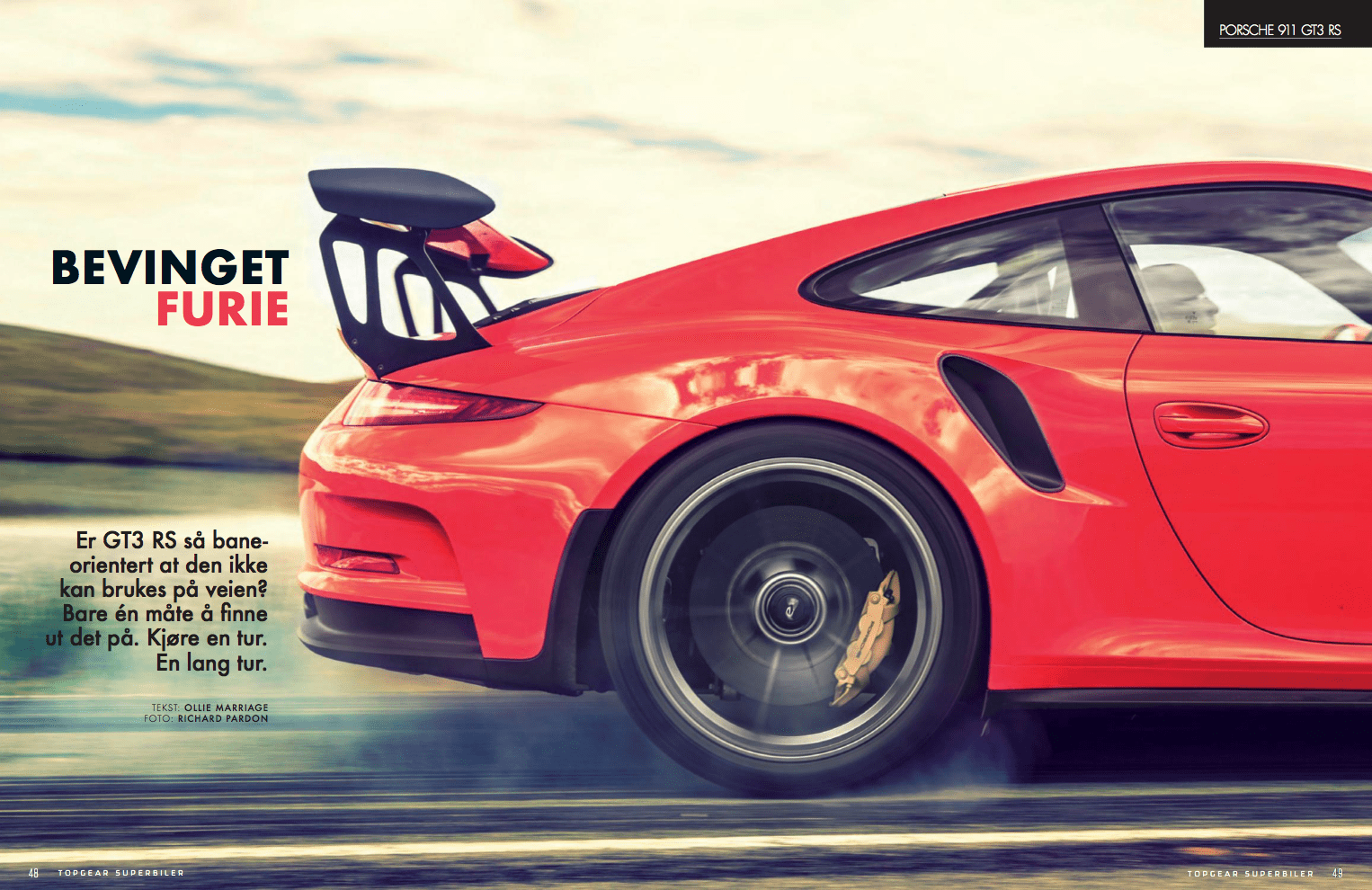 Bevinget furie – Porsche GT3 RS