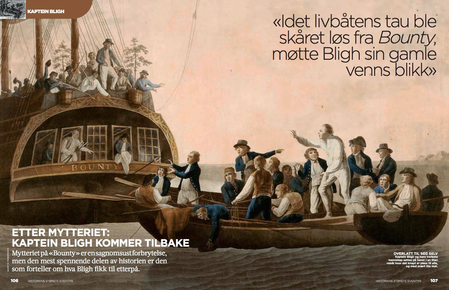 Bounty og kaptein Bligh, oppslag