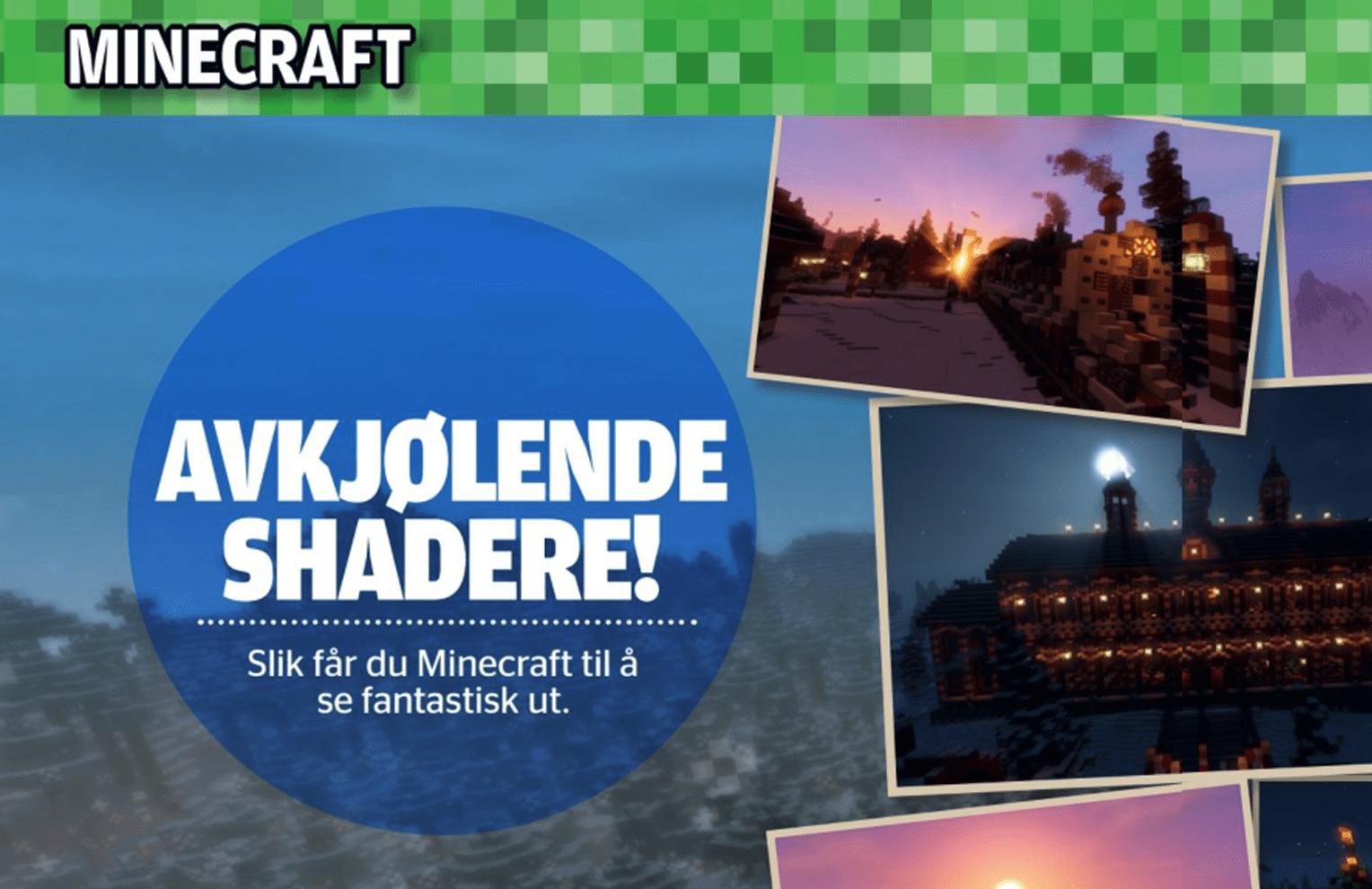 Minecraft: avkjølende shadere, oppslag