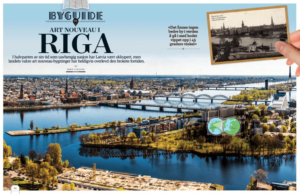 Art nouveau i Riga, oppslag