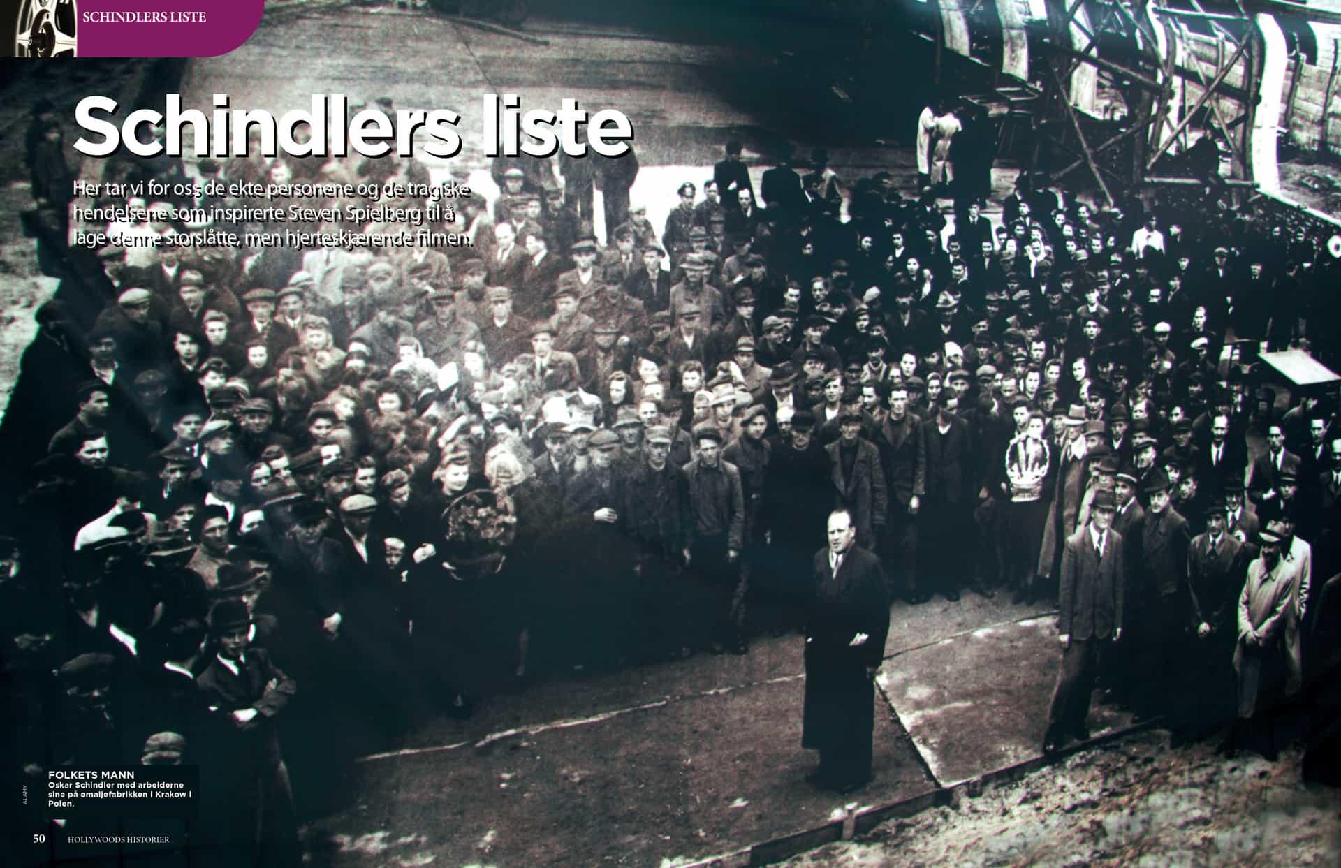 Schindlers liste, oppslag