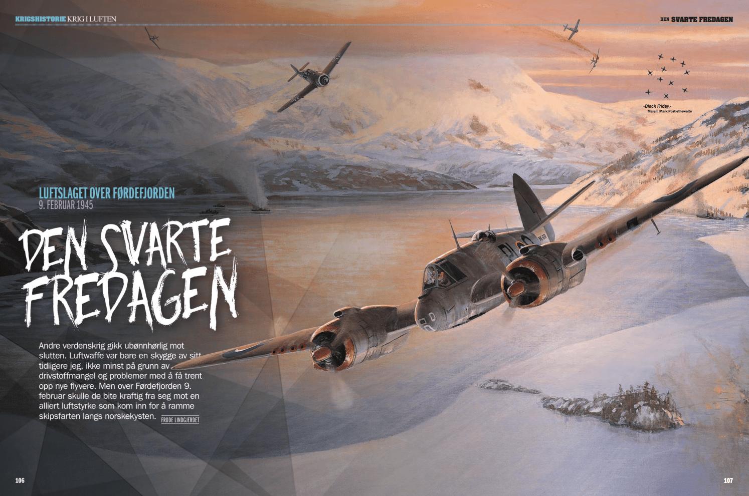 Den svarte fredagen – luftslaget over Førdefjorden 9. februar 1945, oppslag
