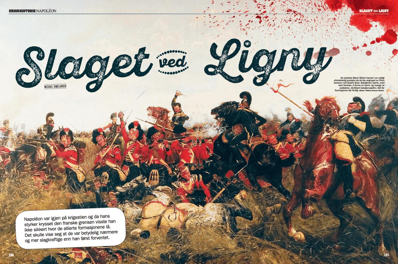 Slaget ved Ligny, oppslag