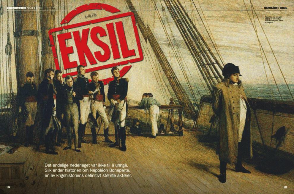 Napoléons siste eksil, oppslag