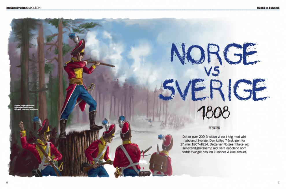 Norge vs Sverige, oppslag