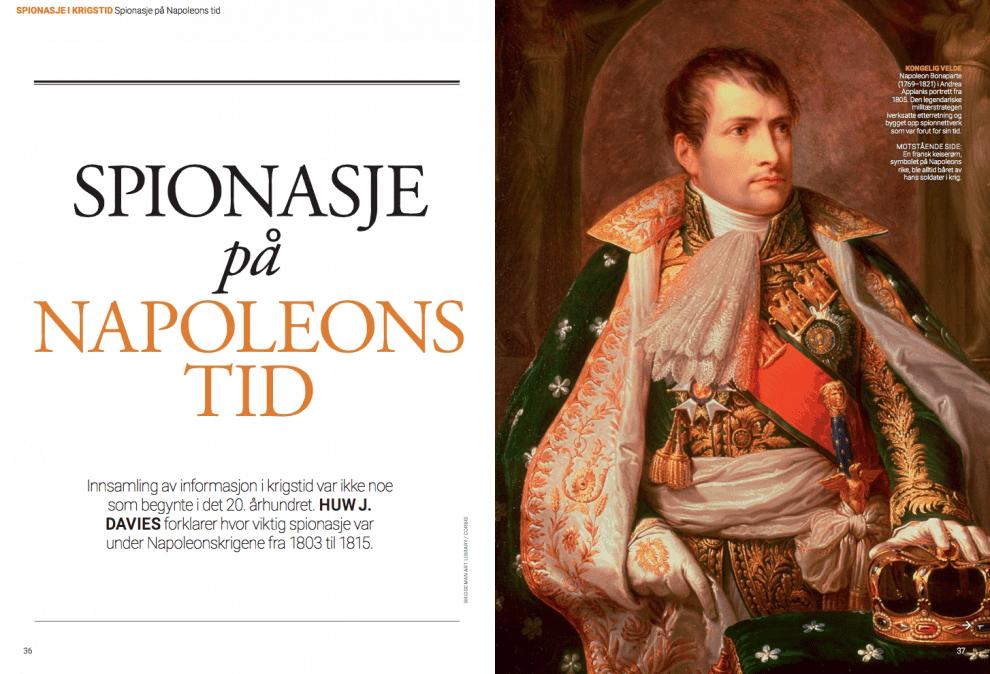 Spionasje på Napoleons tid, oppslag
