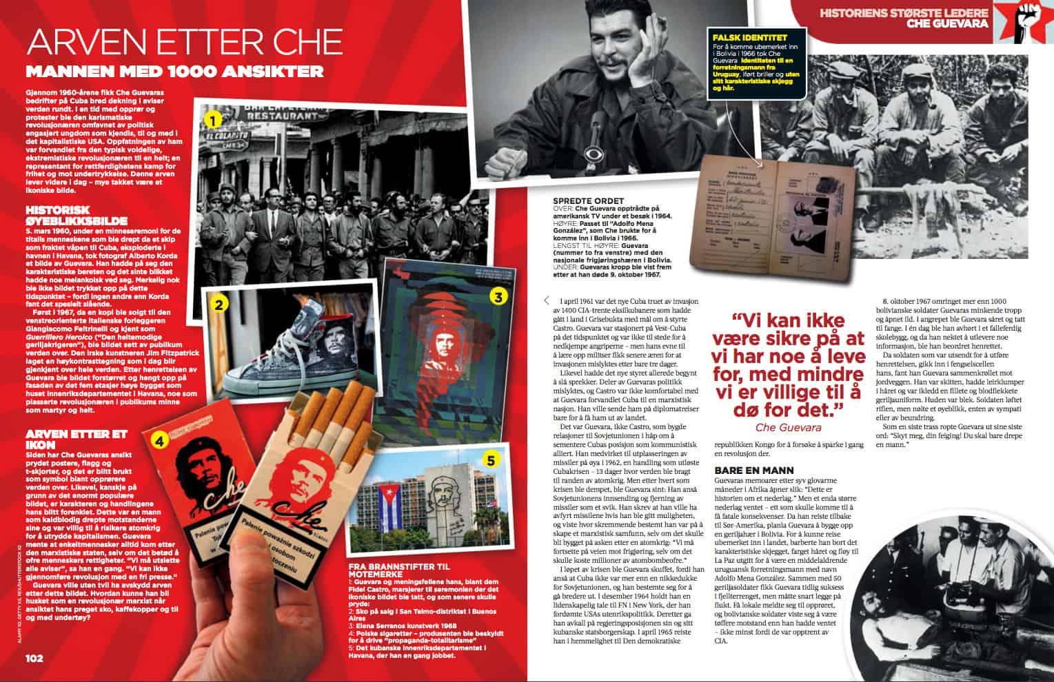 Che Guevara, oppslag
