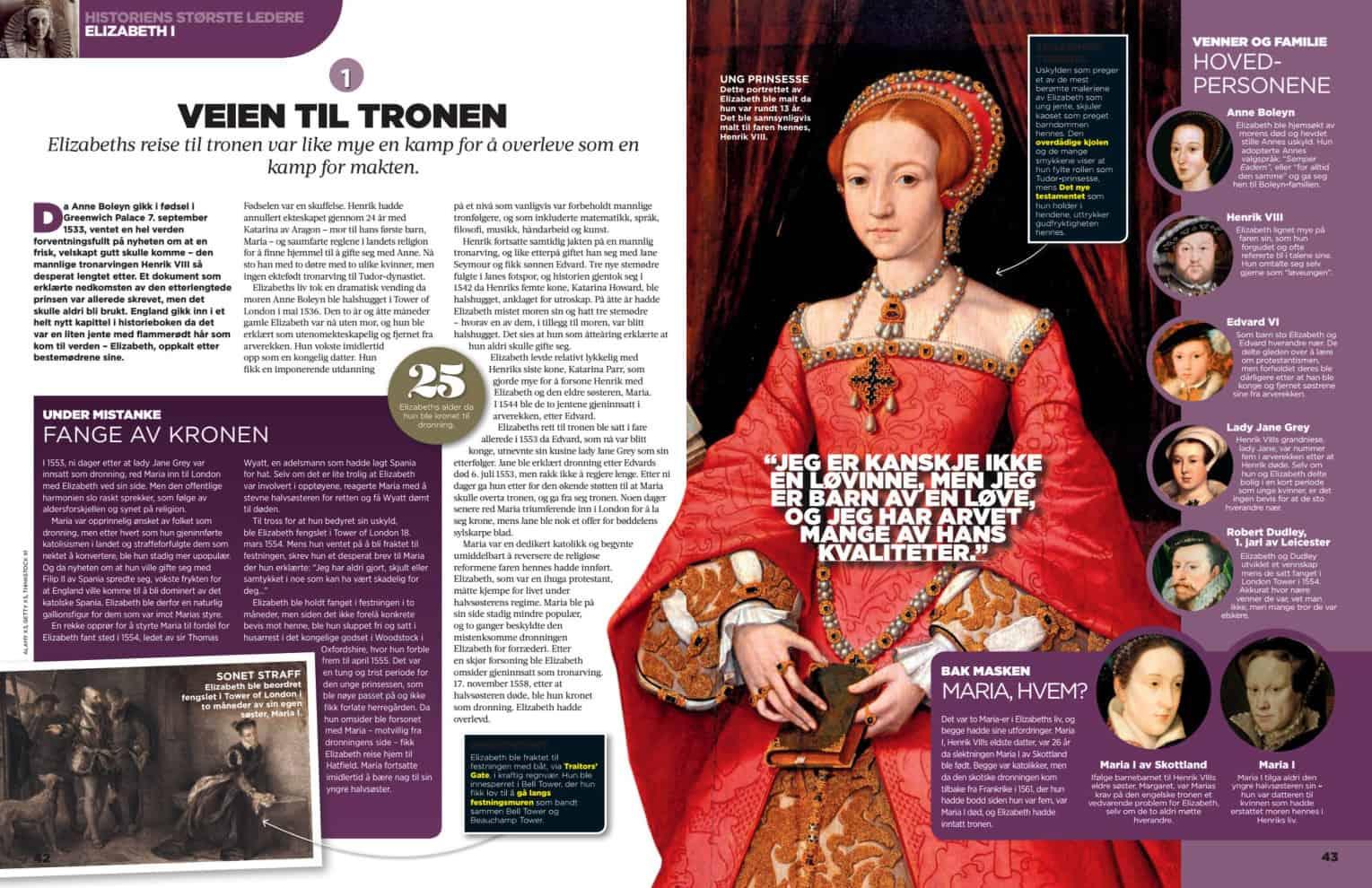 Elizabeth, oppslag