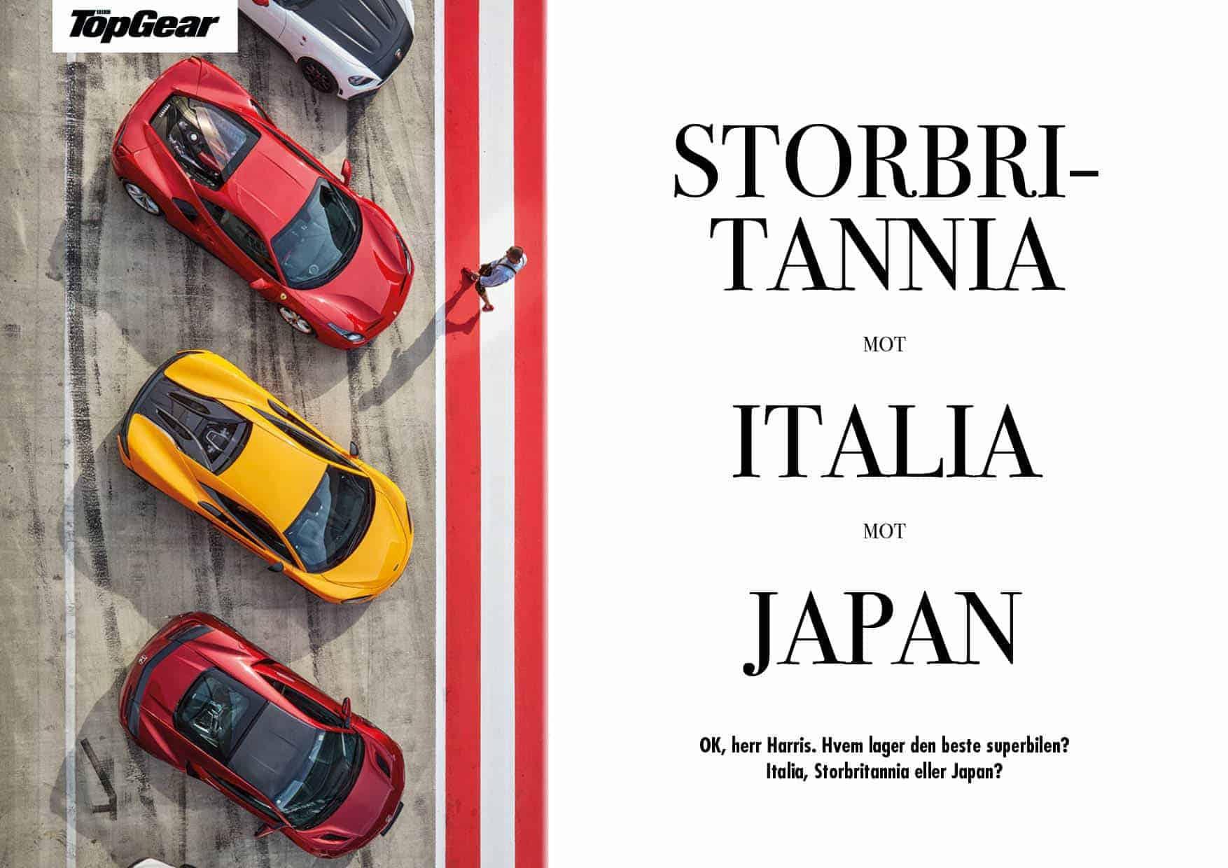 Storbritannia mot Italia mot Japan