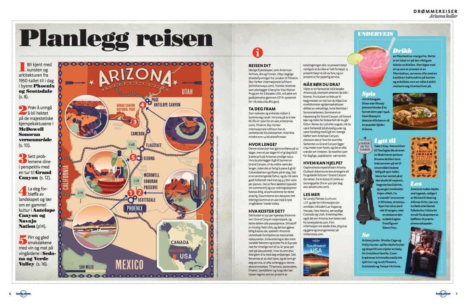 Arizona, oppslag
