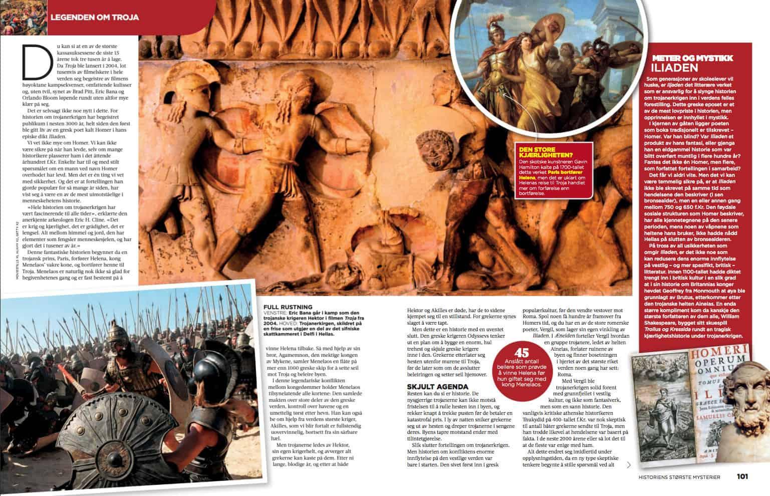 Legenden om Troja, oppslag