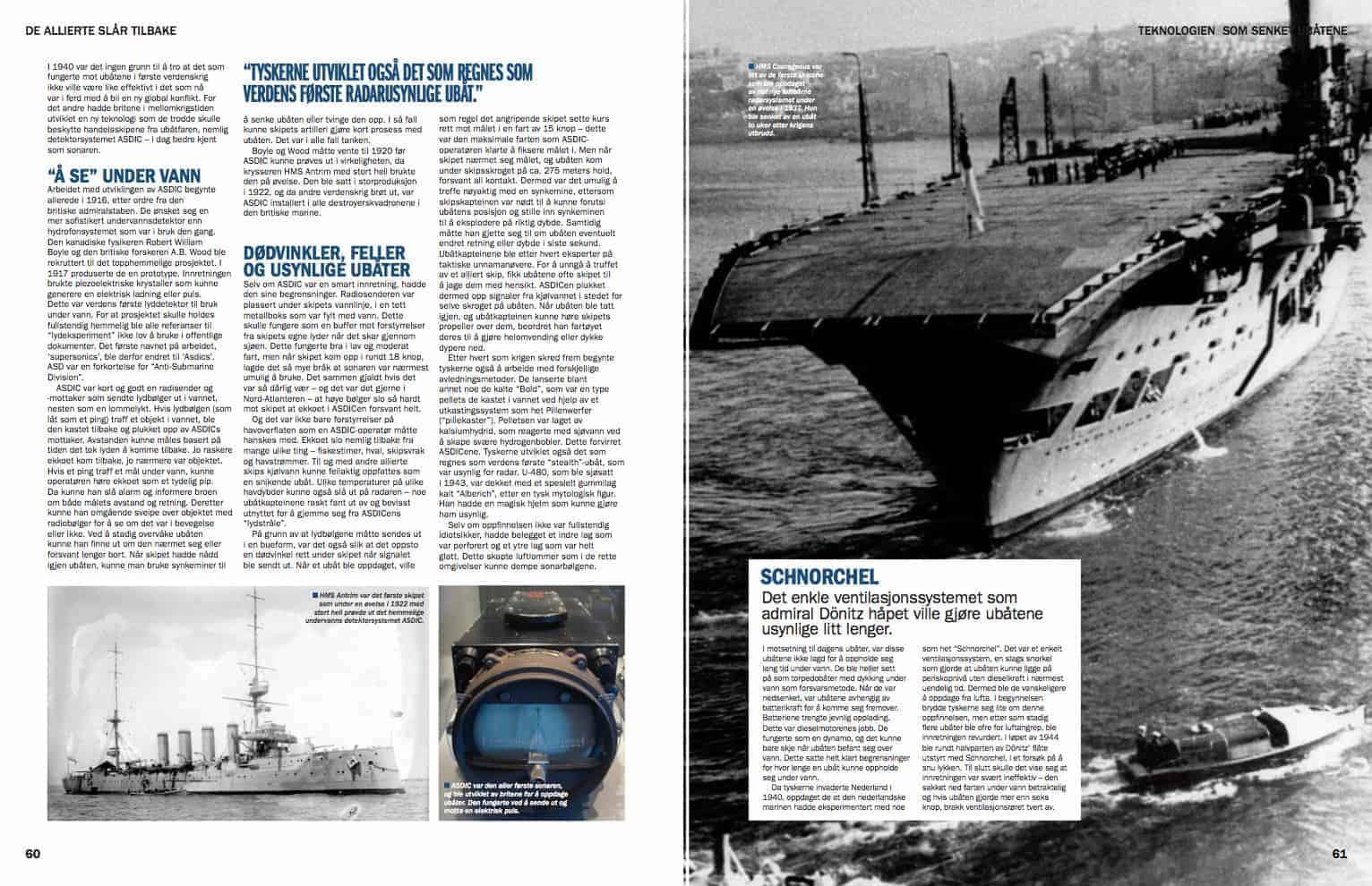 Teknologien som senket ubåtene, oppslag